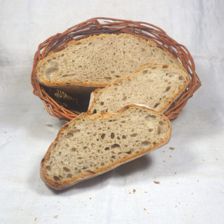 Miche au levain nature tranche