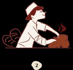 Amélie prépare mon pain