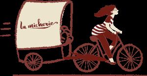 Livraison de pains à vélo